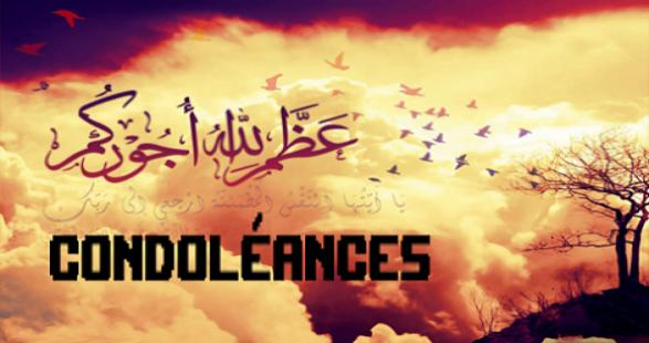 Sincères Condoléances à Rachid Nekkaz Parti Udm